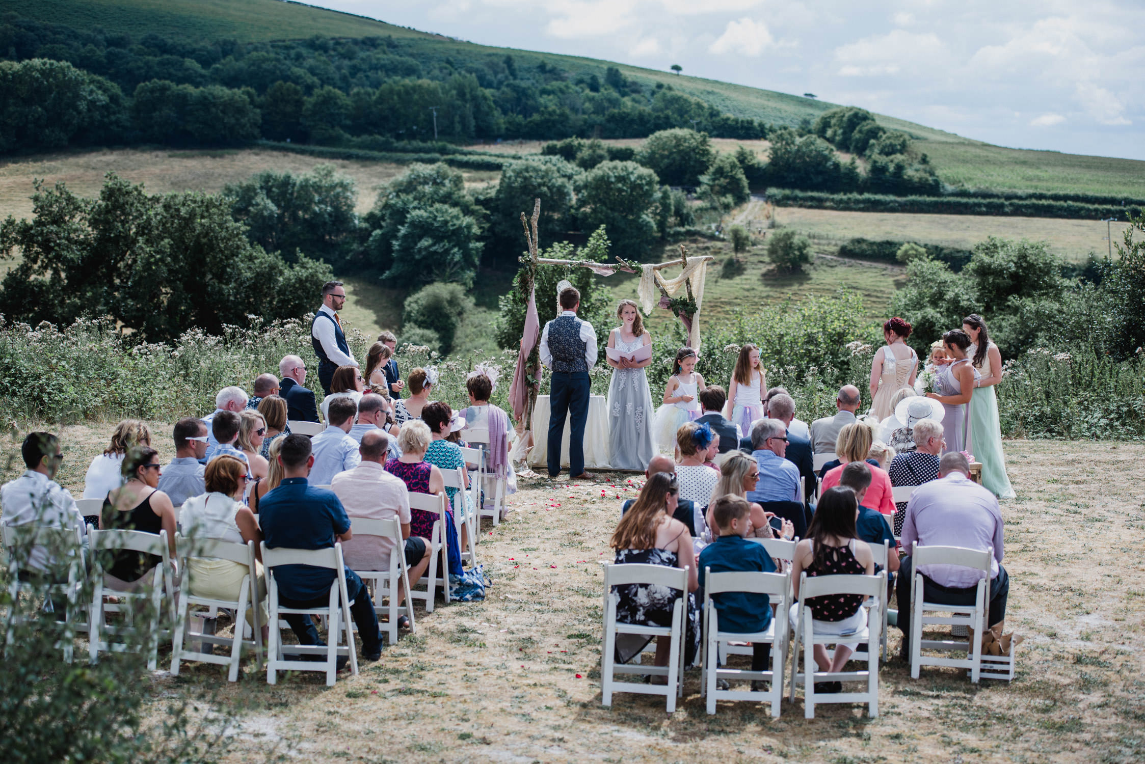 Whitemoor farm wedding photographer in devon, outside wedding , north devon wedding photographer